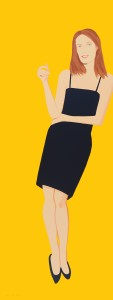 Alex Katz, 'Black Dress 4 (Sharon)', 2015, 32-color silkscreen, Edition 35, 80 x 30 inches, Vertu Gallery, Boca Raton